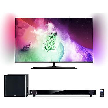 """Philips 49PUS7909 + Yamaha YAS-201 Téléviseur LED 4K 3D 49"""" (124 cm) 16/9 - 3840 x 2160 pixels - TNT, Câble et Satellite HD - Wi-Fi - DLNA - Android - 600 Hz - Lunettes 3D passive + Barre de son"""