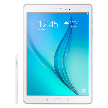"""Samsung Galaxy Tab A 9.7"""" SM-P550 16 Go Blanc + S-Pen Tablette Internet - Qualcomm Snapdragon 410 Quad-Core 1.2 GHz 1.5 Go 16 Go 9.7"""" LED Tactile Wi-Fi/Bluetooth/Webcam Android 5.0 + Stylet"""