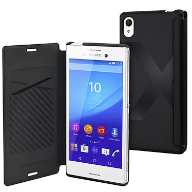 Made for Xperia Etui Easy Folio Noir Sony Xperia M4 Aqua / M4 Aqua Dual Etui de protection à clapet pour Sony Xperia M4 Aqua / M4 Aqua Dual