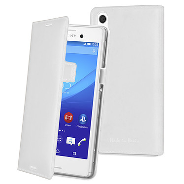 Made for Xperia Etui Slim Folio Luxe Blanc Sony Xperia M4 Aqua / M4 Aqua Dual