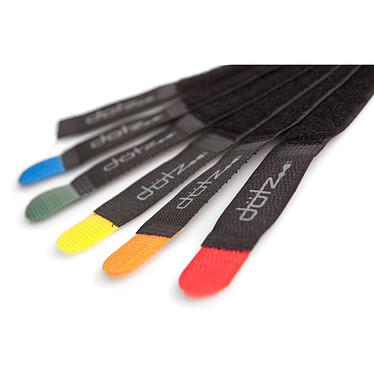 Dotz Hook & Loop Cord Straps Pack de 6 attache-câbles colorés en velcro