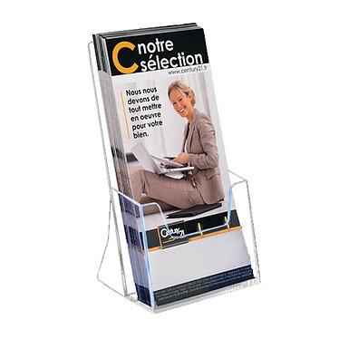 deflecto Présentoir de comptoir Eco 1 case 1/3 A4 Présentoir de comptoir transparent 200 x 112 x 90 mm