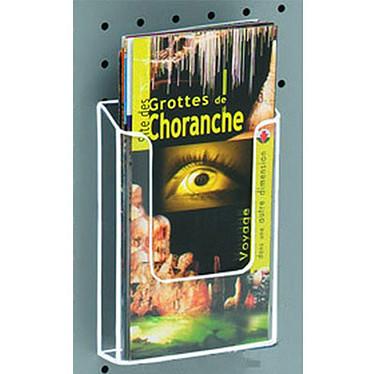 Torenco Présentoir mural Eco 1 case 1/3 A4 Présentoir murral transparent avec 2 perforations 165 x 112 x 40 mm