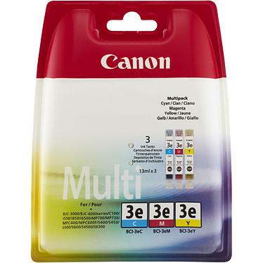 Canon BCI-3e C/M/Y Multipack cartouche d'encre cyan, magenta et jaune