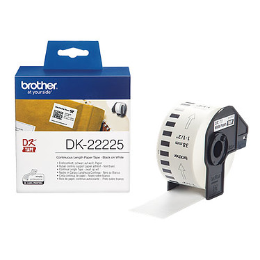 Brother DK-22225 Rouleau d'étiquettes en papier continu - 38 x 30.48 mm