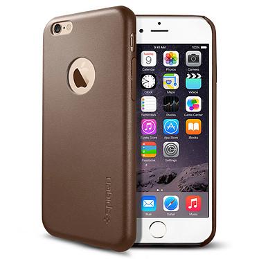 Spigen Case Leather Fit Marron Apple iPhone 6/6s Coque de protection en cuir synthétique pour Apple iPhone 6/6s