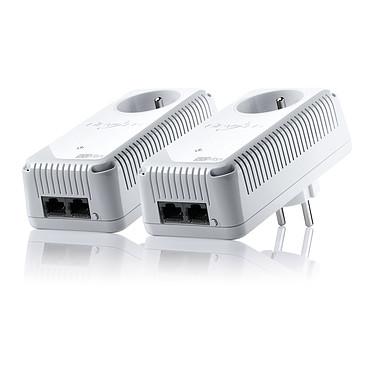 Devolo dLAN 500 duo+ Starter Kit Kit de 2 adaptateurs CPL 500 Mbps avec 2 ports Fast Ethernet et prise électrique