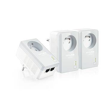TP-LINK TL-PA4025PTKIT Pack de 3 adaptateurs CPL HomePlug AV 500 Mbps 2 ports + prise électrique