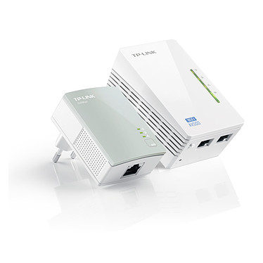 TP-LINK TL-WPA4220KIT Adaptateur CPL 500 Mbps + adaptateur CPL Wi-Fi N 300 Mbps 2 ports