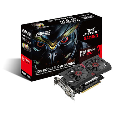 ASUS Radeon R7 STRIX-R7370-DC2OC-4GD5-GAMING 4 Go Dual DVI/HDMI/DisplayPort - PCI Express (AMD Radeon R7 370)