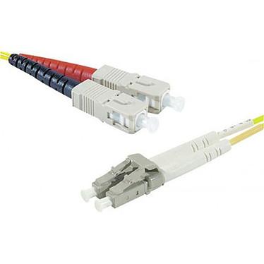Câble fibre optique monomode OS2 9/125 SC-UPC/LC-UPC (1 mètre)