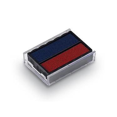 Trodat cassette d'encrage bicolore Bleu/Rouge 6/4850/2 Cassette d'encrage bleu et rouge pour Printy 4850/4850L