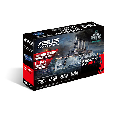 ASUS Radeon R7 360 R7360-OC-2GD5 pas cher