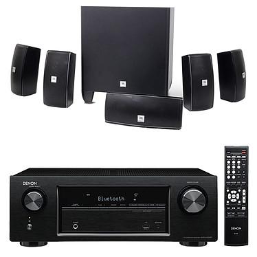 Denon AVR-X520BT + JBL Cinema 610 Ampli-tuner Home Cinema 3D Ready 5.2 avec 5 entrées HDMI 2.0 4K Ultra HD, HDCP 2.2 et Bluetooth + Ensemble 5.1