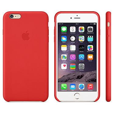 Apple Coque en cuir Rouge Apple iPhone 6 Plus