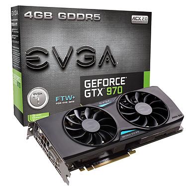 EVGA GeForce GTX 970 FTW+ ACX 2.0+ 4096 Mo DVI/Mini-HDMI/Tri-DisplayPort - PCI Express (NVIDIA GeForce avec CUDA GTX 970)