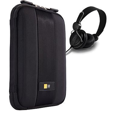 """Case Logic QTS-208 + casque OFFERT ! Coque de protection semi-rigide (pour tablette 8"""", iPad Mini et Kindle Fire) + casque offert"""