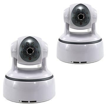 MCL IP-CAMD624AW x2 Pack de 2 caméras réseau HD 1.3 MP temps réel intérieure motorisées (Ethernet, Wi-Fi)