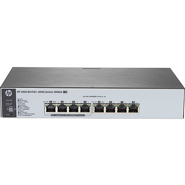 HPE OfficeConnect 1820-8G-PoE+ (65 W) Switch 8 ports 10/100/1000 PoE+