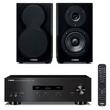 Yamaha A-S201 Noir + Yamaha NS-BP150 Amplificateur stéréo intégré 2 x 100 W + Enceinte bibliothèque (par paire)