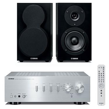 Yamaha A-S301 Argent + Yamaha NS-BP150 Amplificateur stéréo intégré 2 x 60 W + Enceinte bibliothèque (par paire)