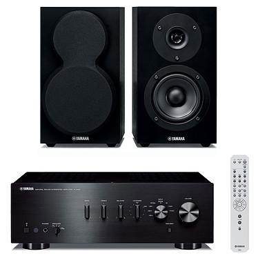 Yamaha A-S301 Noir + Yamaha NS-BP150 Amplificateur stéréo intégré 2 x 60 W + Enceinte bibliothèque (par paire)