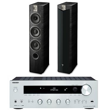 Onkyo TX-8050 Argent + Focal Chorus 727 V2 Black Ash Amplificateur-Tuner stéréo 2 x 130 W en réseau DLNA + Enceinte colonne (par paire)