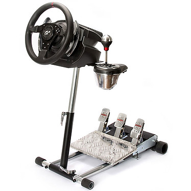 Thrustmaster T500 RS (T500RS) + TH8 Add-On Shifter + Wheel Stand Pro Ensemble de simulation avec volant à retour de force et pédalier 3 pièces ajustable + boite à 7 vitesses + support pliable, réglable et transportable en métal