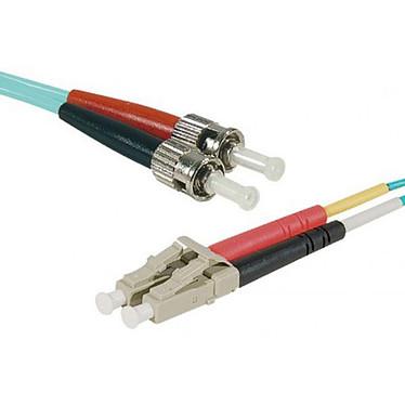 Cable de fibra óptica multimodo OM4 50/125 LC/ST (1 metro) Puente multimodo cian