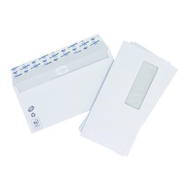 La Couronne Boite de 500 enveloppes DL avec fenêtre Paquet de 500 enveloppes avec fenêtre 35x100 format DL auto-adhésives 90g