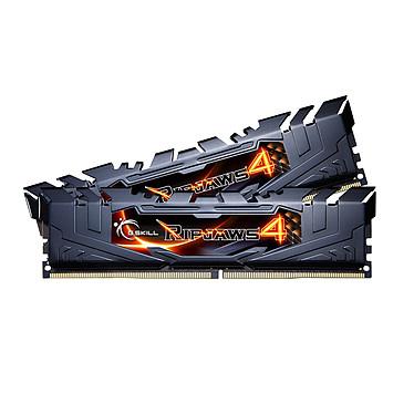 G.Skill RipJaws 4 Series Noir 16 Go (2x 8 Go) DDR4 3000 MHz CL15 Kit Dual Channel 2 barrettes de RAM DDR4 PC4-24000 - F4-3000C15D-16GRK (garantie 10 ans par G.Skill)