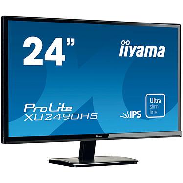 """iiyama 24"""" LED - ProLite XU2490HS-B1 1920 x 1080 pixels - 5 ms - Format large 16/9 - Dalle IPS - HDMI - Noir"""