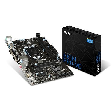 MSI H81M PRO-VD Carte mère Micro ATX Socket 1150 Intel H81 Express - SATA 3Gb/s et SATA 6Gb/s - USB 3.0 - 1x PCI-Express 2.0 16x