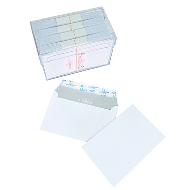 La Couronne 100 enveloppes 105g auto-adhésives 90x140mm Boite de 100 enveloppes 105 g format 90x140mm avec bande de protection