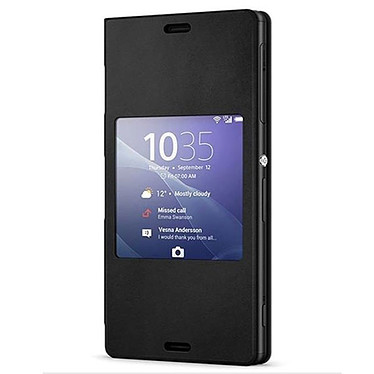Sony Style Up Noir Xperia Z3 Etui folio avec fenêtre pour Sony Xperia Z3