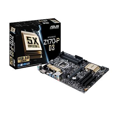 ASUS Z170-P D3 Carte mère ATX Socket 1151 Intel Z170 Express - SATA 6Gb/s + M.2 - USB 3.0 - DDR3 - 2x PCI-Express 3.0 16x