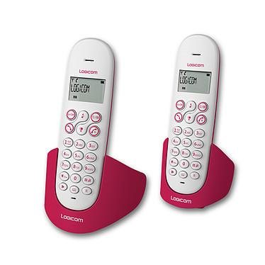 Logicom Luna 250 Framboise Téléphone DECT sans fil avec haut parleur (version française) et un combiné supplémentaire