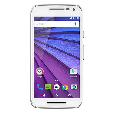 """Motorola Moto G 3ème Génération 8 Go Blanc Smartphone 4G-LTE IP67 - Snapdragon 410 Quad-Core 1.4 Ghz - RAM 1 Go - Ecran tactile 5"""" 720 x 1280 - 8 Go - Bluetooth 4.0 - 2470 mAh - Android 5.1"""