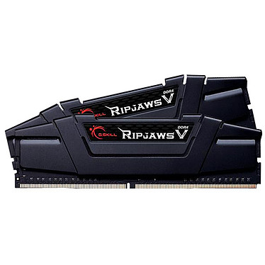 G.Skill RipJaws 5 Series Noir 32 Go (2x 16 Go) DDR4 3200 MHz CL16 Kit Dual Channel 2 barrettes de RAM DDR4 PC4-25600 - F4-3200C16D-32GVK