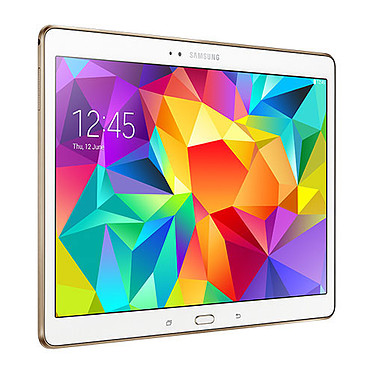 """Samsung Galaxy Tab S 10.5"""" SM-T800 16 Go Blanche Tablette Internet - Double processeur Quad-Core Exynos 5 5420 1.9 GHz 3 Go 16 Go 10.5"""" LED Tactile Wi-Fi/Bluetooth/Webcam Android 4.4"""