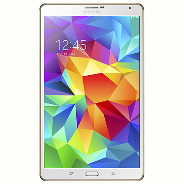 """Samsung Galaxy Tab S 8.4"""" SM-T705 16 Go Blanche Tablette Internet 4G-LTE - Double processeur Quad-Core Exynos 5 5420 1.9 GHz 3 Go 16 Go 8.4"""" LED Tactile Wi-Fi/Bluetooth/Webcam Android 4.4"""