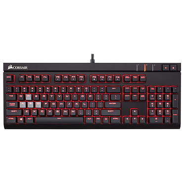 Corsair Gaming STRAFE (Cherry MX Red) Clavier gaming - interrupteurs mécaniques rouges (switches Cherry MX Red) - rétroéclairage rouge - AZERTY Français
