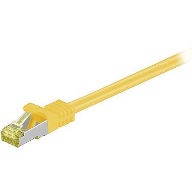 Cordon RJ45 catégorie 7 S/FTP 0.5 m (Jaune) Câble ethernet catégorie 7 à double blindage