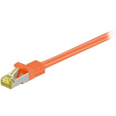 Cordon RJ45 catégorie 7 S/FTP 15 m (Orange) Câble ethernet catégorie 7 à double blindage