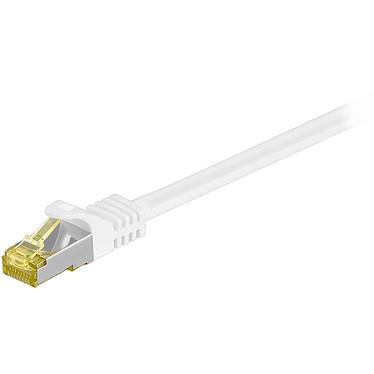 Cordon RJ45 catégorie 7 S/FTP 1 m (Blanc) Câble ethernet catégorie 7 à double blindage