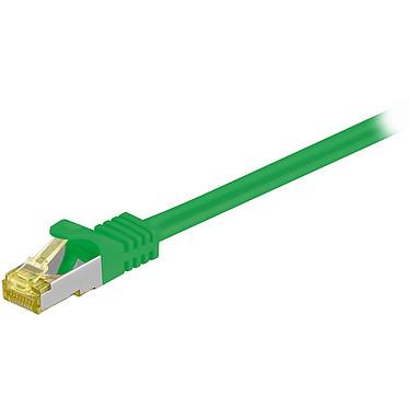 Cordon RJ45 catégorie 7 S/FTP 0.25 m (Vert) Câble ethernet catégorie 7 à double blindage