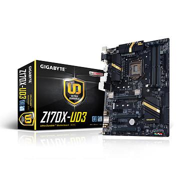 Gigabyte GA-Z170X-UD3 Carte mère ATX Socket 1151 Intel Z170 Express - SATA 6Gb/s + M.2 + SATA Express - USB 3.1 - 3x PCI-Express 3.0 16x