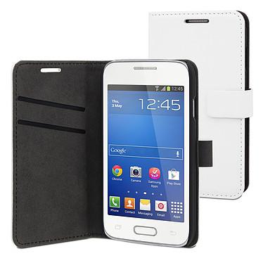 Muvit Etui Slim Folio Blanc Samsung Galaxy Trend 2 Lite Etui folio pour Samsung Galaxy Trend 2 Lite