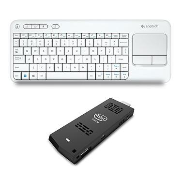 Intel Compute Stick (BOXSTCK1A32WFC) + Logitech K400 Blanc