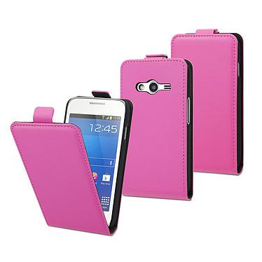 Muvit Etui Slim S Rose Samsung Galaxy Trend 2 Lite Etui clapet ultra-fin pour Samsung Galaxy Trend 2 Lite